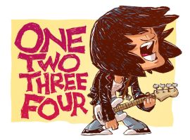 Ramones Sketch by DerekHunter