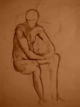 figure drawing male by piesoup
