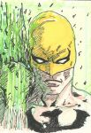 Iron Fist Sketch Card by Graymalkin2112