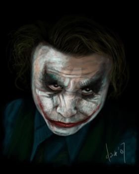 The Joker speedpaint by BikerScout