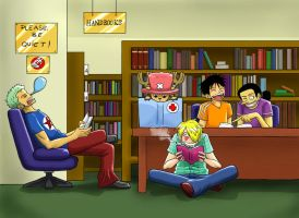 In the Library by wallabby
