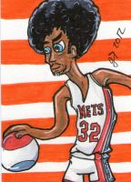 Dr J sketch card by johnnyism