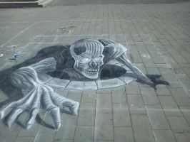 My first 3D draw  in street by Saules-dievas