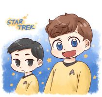 [STAR TREK] Sulu and Chekov by twosugars16