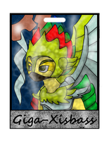 GIGA-XISBASS STAINGLASS BADGE by candiphoenixe by DEVIOUS-DISCORD-RP