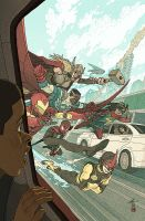 All-New All-Different Avengers #3 Variant Cover by AfuChan