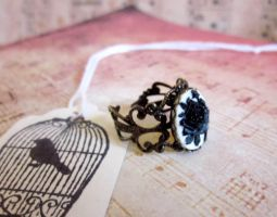 Rose Cameo Ring by Megumi-Selwyn
