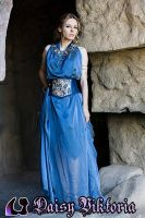 Blue Goddess Gown by DaisyViktoria