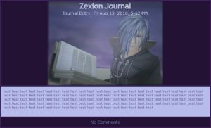 Zexion Journal by nekoluver666
