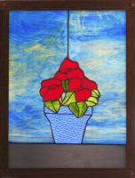 Flower Plant in Stained Glass by CarolynYM
