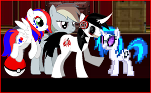 Jeff gets all the fillies by GrammarshineHyena