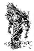 The Swamp Thing inks by andretapol