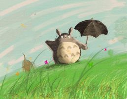 My First Totoro Painting by foofighters111