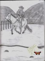 A Person Riding a Horse 1 by Mel-at-ne