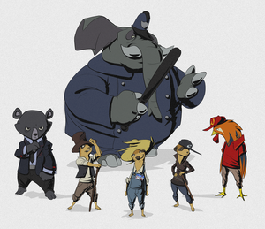 Cat Scratch Beaver Lineup by Tongman