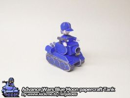 Papercraft Advance Wars Blue Moon Tank turning by ninjatoespapercraft