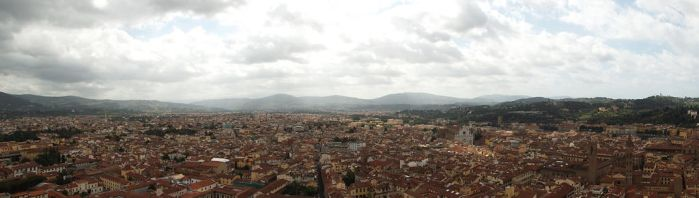 View of Florence from the top of Santa Maria by JannaLowe