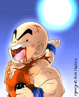 Krillin Uses the Spirit Bomb by GuySanX