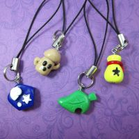 Animal crossing DS charms by TrenoNights