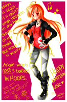 OPPS. I said it out loud eue ~ HAPPY BDAY ANGIE by Jakeykitty29