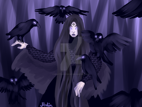 Raven Mother by MyLittleCutieCat