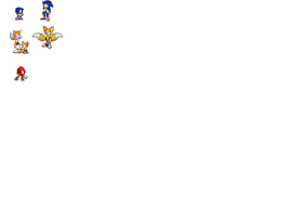 Trial Sonic Sprites by kid45buu2