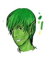 Beastboy: coloring practice by chopperhat