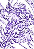 Riven and Sejuani:League of Legends Stream is over by Bryan-Lobdell
