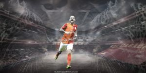 Wesley Sneijder Wallpaper by bluezest1997