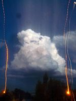 Cloud in the Night, and Ascending Lights by Johnny-Aza