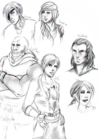 Witcher Sketches by Quelfarii