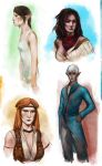 Dragon Age II sketches by RisingMonster