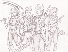 Adventuring Party by Aetruis