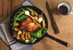 Roasted chicken and summer veggies by spondii