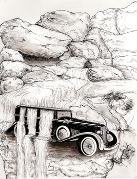 Surreal Vehicle Illustration by JenniferRodz
