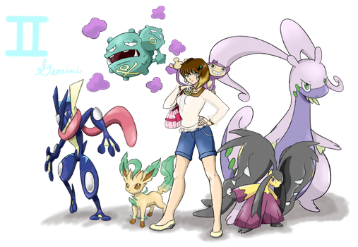 Pokemon Trainer Genevieve (Gemini) by Call-Of-The-Indie