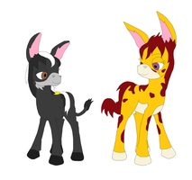 The Donkey and the Mule by Final7Darkness