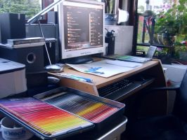 My workplace and latest tools by Laggtastic