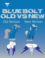 Blue Bolt Old to New by Silentmatten