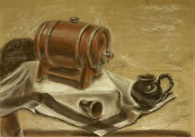 Still life with barrel by Cunami-in-october