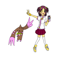 Digimon Collab: Shiuchon and Lopmon by Runes-of-Lune