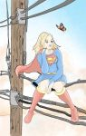 Supergirl with Butterfly by MichelleSix