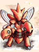 Scizor 2 by SailorClef