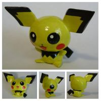 Handmade Pichu Sculpture by tastee-tea