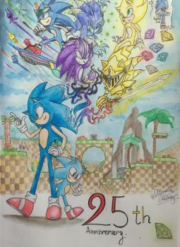Adventures (25th Anniversary of Sonic !) by ultimate-galaxy
