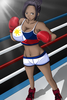 Ana Aquio Professional Boxing Gear by deadpoolthesecond