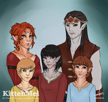 Telki, Erandur, and the Dovahkittens [C] by KittehMei