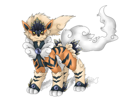 Arcanine evolution Fakomon by AerisArturio