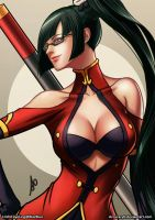 Litchi Faye Ling Fight Stance Color by borjen-art