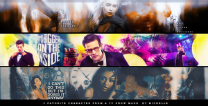 3 Favorite Character From A Tv Show  Banners by Miss-Chili